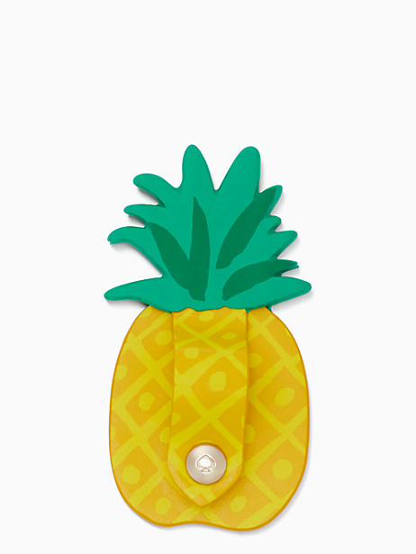 Kate Spade Pineapple Cord Keeper Sticker, Yellow