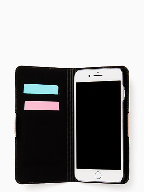 flamingo applique folio iPhone 7 & 8 plus case by kate spade new york