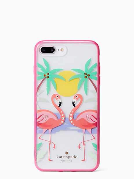 jeweled flamingos iPhone 7 & 8 plus case by kate spade new york