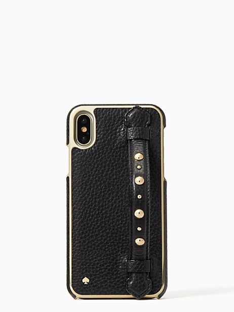 studded hand strap stand iphone x case by kate spade new york