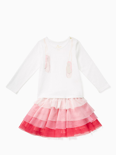 Kate Spade Babies' Ruffle Skirt Set, Fresh White - Size 12M