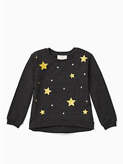 girls' star sweatshirt by kate spade new york