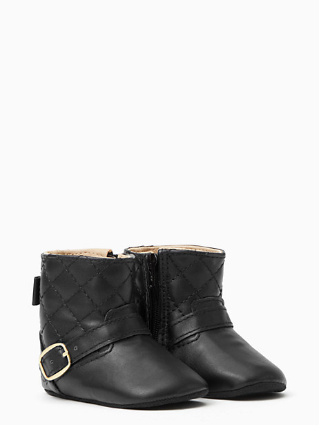 Kate Spade Quilted Moto Boot, Black
