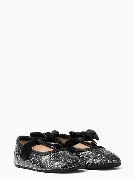 Kate Spade Glitter Mary Jane With Bow, Black Glitter