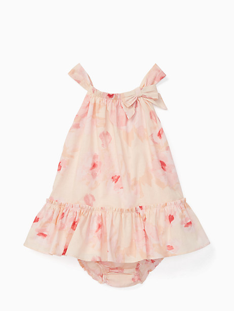Kate Spade Babies' Bow Neck Ruffle Dress Set, Desert Rose - Size 12M