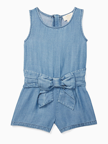 Kate Spade Toddlers' Jillian Romper, Chambray - Size 2