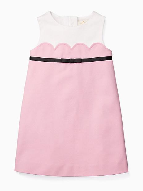 Kate Spade Girls' Scallop Dress, Cherry Blossom - Size 12