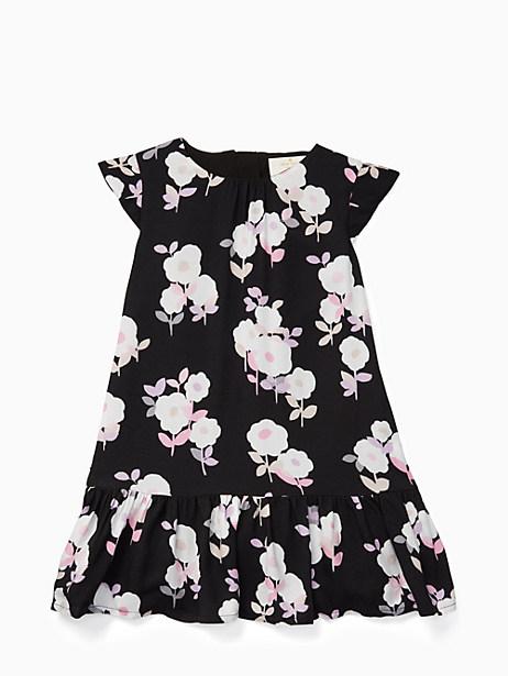 Kate Spade Girls' Floral Dress, Posy Floral Black - Size 14