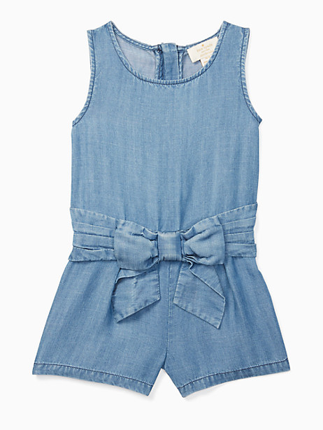 Kate Spade Girls' Jillian Romper, Chambray - Size 10
