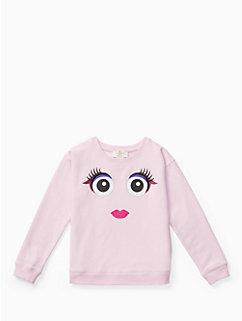 girls' monster sweatshirt by kate spade new york