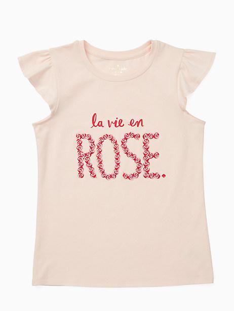 Kate Spade Girls' La Vie En Rose Tee, Atlas Pink - Size 10