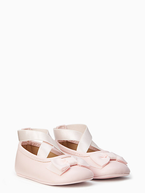 Kate Spade Ballet Slipper With Bow, Valentine Pink - Size 1