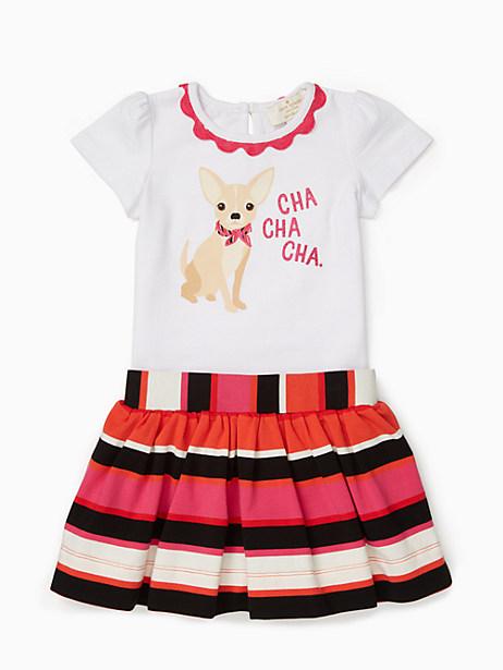 Kate Spade Babies' Cha Cha Cha Skirt Set, Fresh White - Size 12M