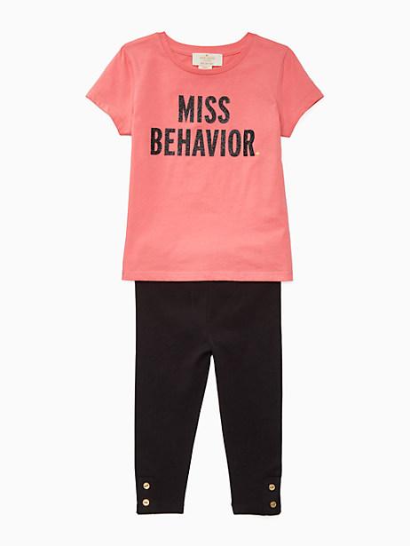 Kate Spade Babies' Miss Behavior Legging Set, Pink Sky - Size 12M