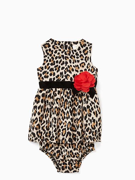 Kate Spade Babies' Classic Leopard-print Dress Set, Leopard - Size 12M