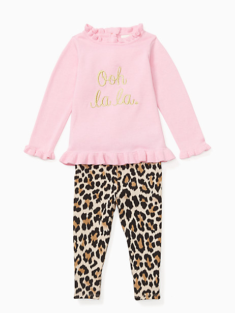 Kate Spade Babies' Ooh La La Legging Set, Parisian Pink - Size 12M