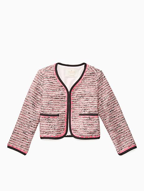 Toddlers' Knit Tweed Jacket, Size 2