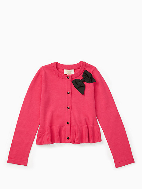girls' peplum cardigan by kate spade new york