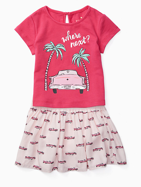 Kate Spade Babies' Where Next Skirt Set, Camilla Pink - Size 12M