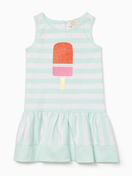 Kate Spade Toddlers Ice Pop Stripe Dress, Fresh Mint/Fresh White - Size 2