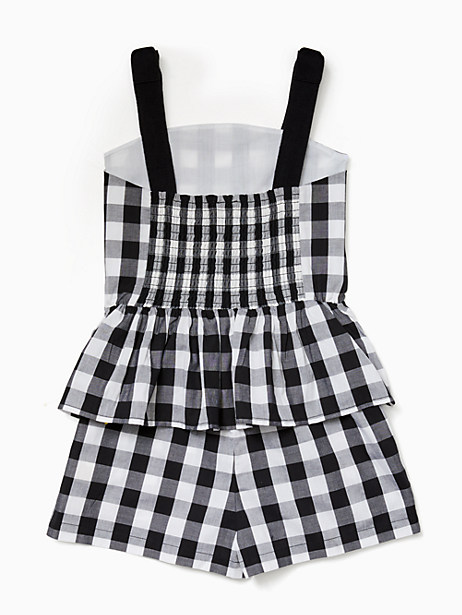 girls gingham romper by kate spade new york