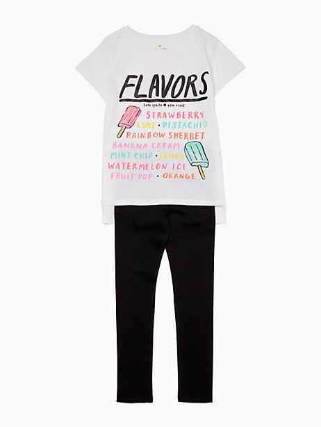 girls ice pops menu tee by kate spade new york