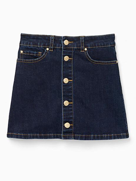 girls' denim mini skirt by kate spade new york
