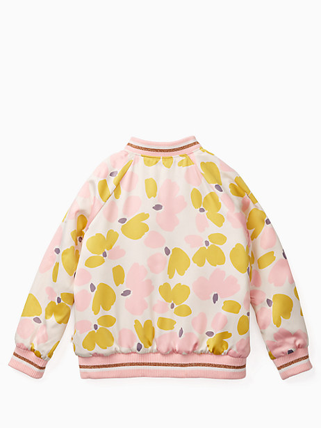 girls' satin printed bomber by kate spade new york