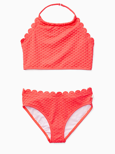 girls' scalloped two-piece by kate spade new york