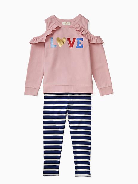 toddler love legging set by kate spade new york