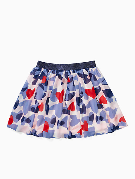 girls confetti hearts skirt by kate spade new york
