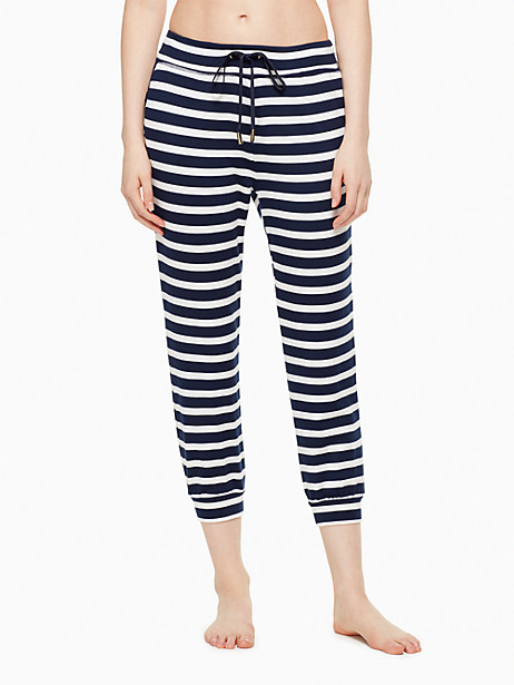 Kate Spade Modal Terry Relaxed Sweatpant, Sailing Stripe - Size L