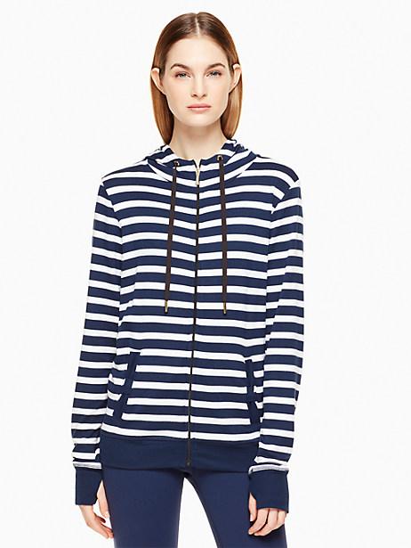 Kate Spade Tab Bow Hoodie, Sailing Stripe - Size L