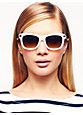 autumn sunglasses, white crystal