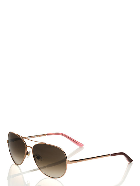 Kate Spade Avaline Sunglasses, Rose Gold
