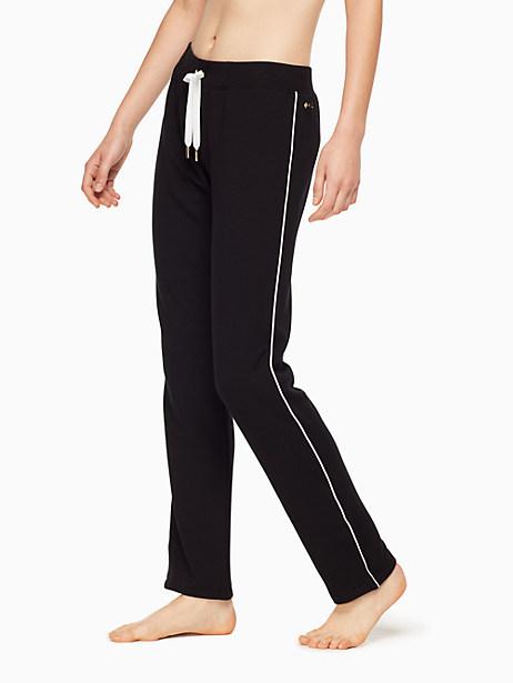 Kate Spade Tuxedo Piped Sweatpant, Black - Size L