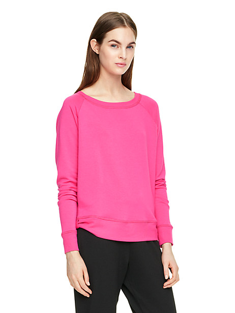 Kate Spade Relaxed Long Sleeve Pullover, Deep Carnation - Size M