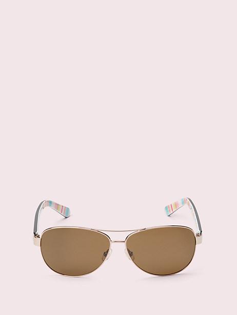 Kate Spade Dalia 2 Sunglasses, Red/Gold