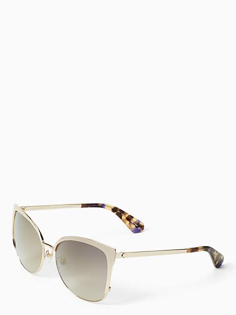 Kate Spade Genice Sunglasses, Gold