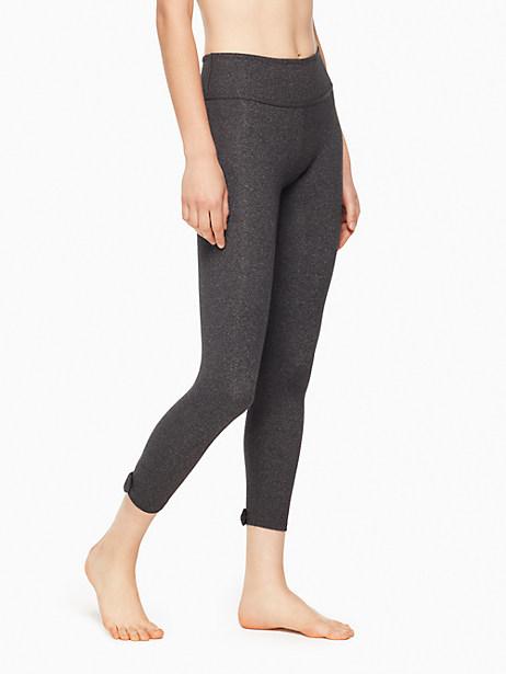 Kate Spade Leaf Bow Capri Legging, Med Grey - Size L