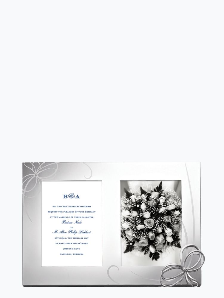 belle boulevard double invitation frame