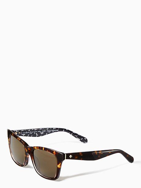 Kate Spade Jenae Sunglasses, Havana Cream