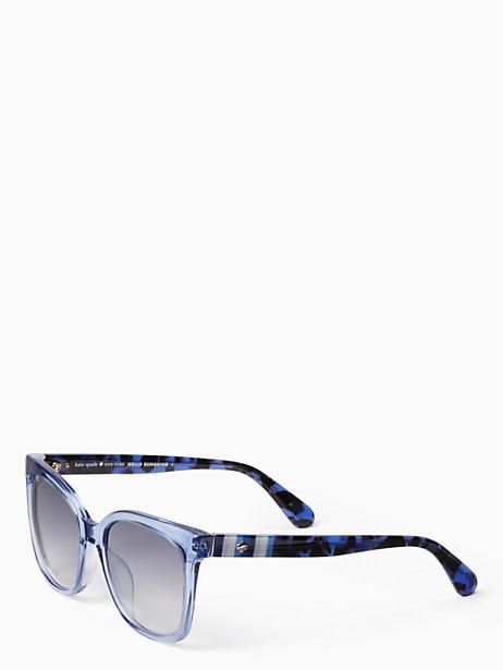 Kate Spade Kiya Sunglasses, Blue Clear