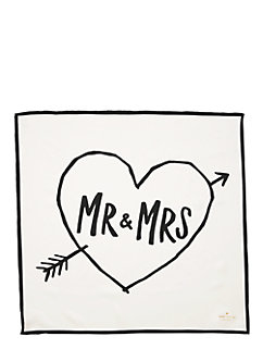 mr. & mrs. silk square by kate spade new york