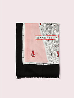 map oblong scarf by kate spade new york