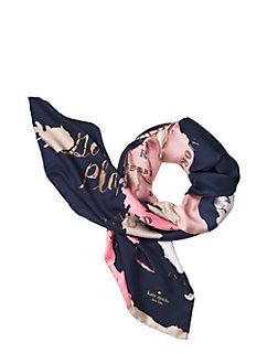 going places silk square scarf by kate spade new york