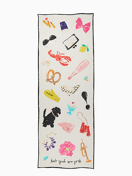 things we love oblong scarf by kate spade new york