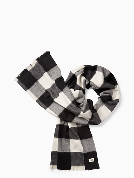 Kate Spade Mega Check Scarf, Cream/Black