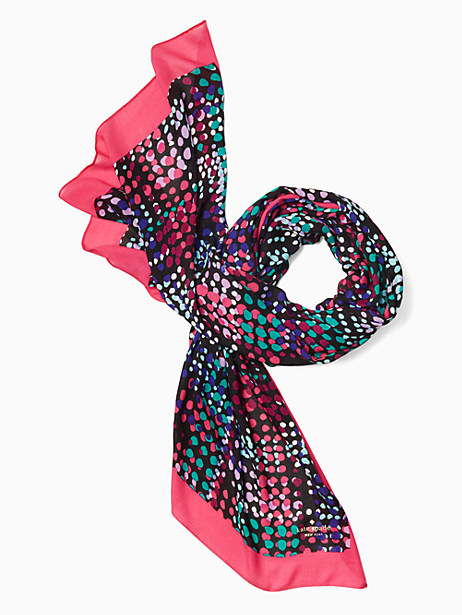 Kate Spade Multi Dot Oblong Scarf, Cabaret Pink