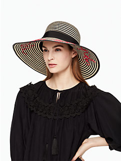 la vie en rose stripe sunhat by kate spade new york